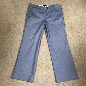 Talbots Chambray Wide Leg Trousers